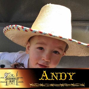 Kids Custom Straw Hats, Andy