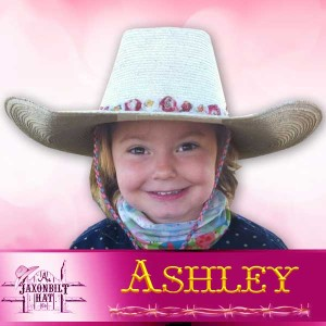Kids Custom Straw Hats, Ashley