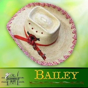 Kids Custom Straw Hats, Bailey