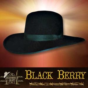 #18 Black Berry Western Hat