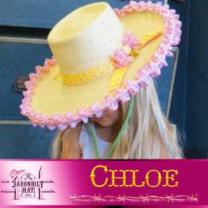 Kids Custom Straw Hat, Chloe