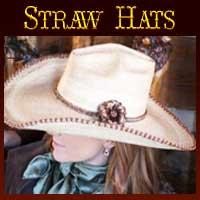 Cowgirl straw hats, custom straw hats