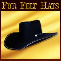 Custom Fur Felt Hats, custom western hats