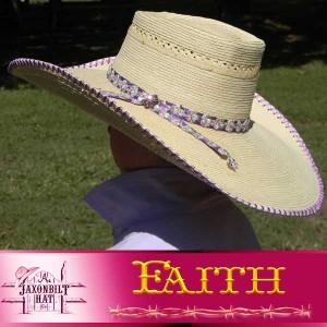 Kids Custom Straw Hat, Faith