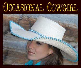 161863b5937666 When you want to wear a cowgirl hat with a bit more of a feminine touch,  check out JB's Occasional cowgirl hats.