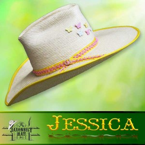 Kids Custom Straw Hats, Jessica